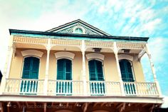 New Orleans Photograph Aqua and Yellow House by VintageChicImages, $30.00