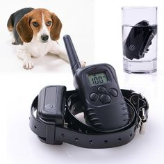 300M Rechargeable Dog Training Collar Waterproof with Beep Vibration Shock ** Tried it! Love it! Click the image. : Cat Repellent and Training Aid