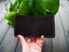 Bifold Leather Wallet Wallet Leather Wallet Mens by CityOfGod