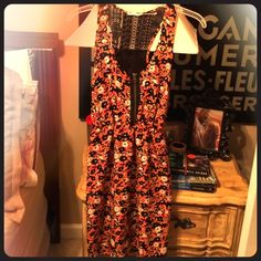 ONE DAY SALE! Floral Print Dress by Kimchi Blue So cute & comfy summer dress. Only worn a few times, great condition! Only selling because it is a little too short with my curves. Urban Outfitters Dresses