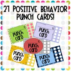 Positive Behavior Punch Cards | One-Stop Counseling Shop