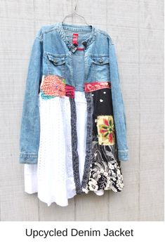 reserved for Jodi This beautiful Boho Art Jacket is the perfect piece for a day of shopping or for a night out - you can easily pair it with a white t-shirt and your favorite pair of jeans or leggings! This one is designed to be worn open or b Diy Clothing, Clothing Patterns, Hot Topic Clothes, Clothes For Women, Casual Summer Outfits, Stylish Outfits, Denim Fashion, Fashion Outfits, Scene Outfits