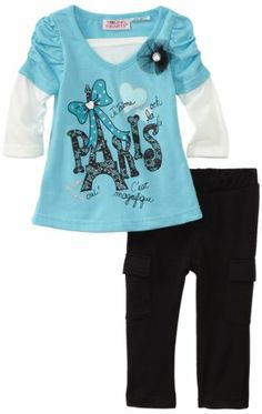Young Hearts Baby-Girls Infant 2 Piece Paris Pant Set, Aqua/Turquoise, 12 Months Young Hearts,http://www.amazon.com/dp/B006GPPK62/ref=cm_sw_r_pi_dp_X2tRsb048J5G5E8R