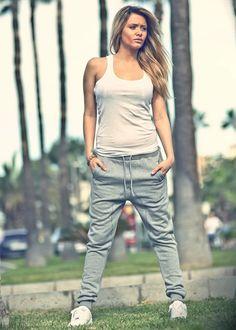 Urban Classics Ladies Hose Deep Crotch Sweatpant grau - 77onlineshop