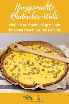 Die Rhabarber-Wähe ist ein beliebtes traditionelles  Schweizer Gericht auf dem Familientisch. Die Wähe ist klimafreundlich, einfach, schnell und preiswert zubereitet und Kinder lieben sie. Wir verraten euch unsere gelingsicheren Rezepte für Rhabarber-Wähe. #Rhabarber #Wähe #LaCucinaAngelone #DieAngelones Beef, Ethnic Recipes, Foodblogger, Juni, Quiches, Form, Happy, Pie, Baked Goods