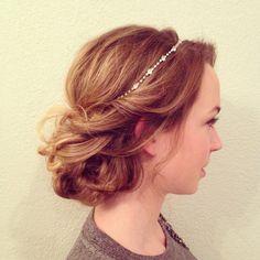Www.melissamariehair.com bridal hair, wedding hair, up styles, romantic hair, boho hair, bhldn