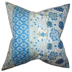 Kairi Feather and Down Filled Throw Pillow Lapis