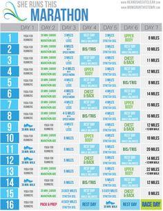 FREE Marathon Training Calendar! http://shop.nanorunner.com