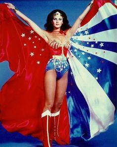 MEGA Wonder Woman Cape  Huge replica of Lynda Carter's by pinkpurr, $550.00