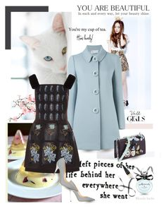 """""""When life is sweet, celebrate"""" by blonde-bedu ❤ liked on Polyvore featuring Krystal, COII, RED Valentino, Alena Akhmadullina, Jimmy Choo, Christian Louboutin and Kate Spade"""