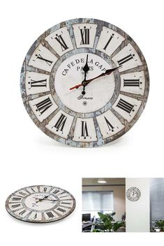Bathroom Wall Clock Waterproof Temperature Display Round Quartz Clockwork Quiet