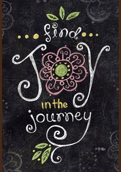 Toland Home Garden Joy In The Journey Chalkboard 28 X Decorative  USA Produced Double Sided House Flag