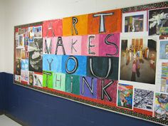 Art in the Big Green Room: bulletin boards