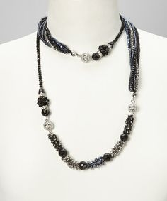 Take a look at this Black & Silver Maggies Mix-n-Match Magnetics Necklace & Bracelet by Alexa's Angels on #zulily today!