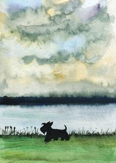 Scottie Dog Art Print Scottish Terrier