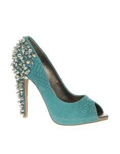 Sam Eldeman Lorissa Spiked Peep Toe Court Shoes