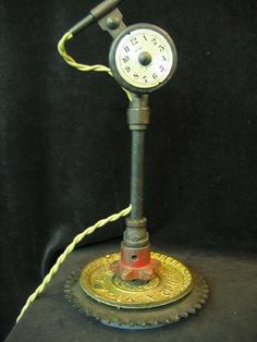 The Steampunk Table Lamp is Made From an Old Sewing Machine #steampunk #victorian trendhunter.com