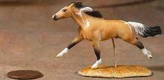 Breyer Mini Whinnie TB to Dappled Buckskin Tobiano by J. Bonney