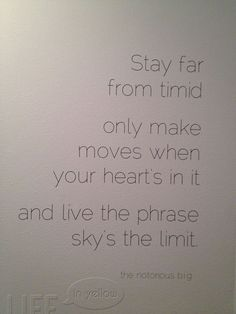 Wall decal - Notorious BIG quote