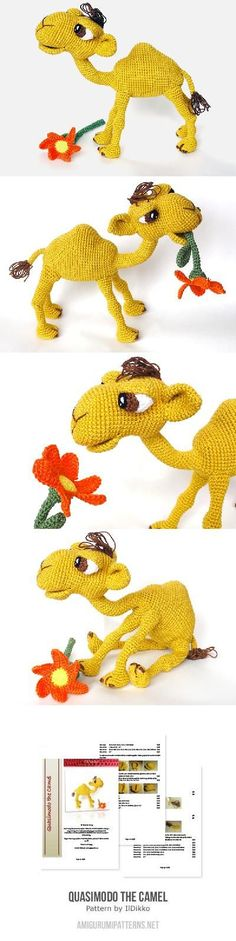 Quasimodo the camel amigurumi pattern by IlDikko