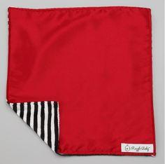 Black & White Stripes and Red Blanket
