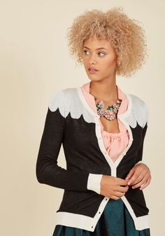 Paris Cafe Cardigan in Noir | ModCloth