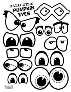 Pumpkin eyes and mouths. This would make a fun singing time. Have a few blank pumpkins either paper or real, and write song names on the back of the eyes and mouths. Theme Halloween, Holidays Halloween, Halloween Pumpkins, Halloween Crafts, Happy Halloween, Halloween Decorations, Halloween Drawings, Fall Crafts, Holiday Crafts