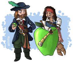 Barbossa and Jack POTC by by-blood-undone.deviantart.com on @DeviantArt