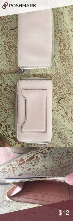 Coach wallet Coach small wallet.   Gently used  pastel pink. Great for use in smaller purses. Coach Bags Clutches & Wristlets