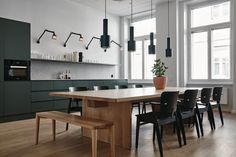 Designed by Studio Joanna Laajisto, Fjord Helsinki is the rare office with the feel of a home. That is, of course, intentional, as the space. Dining Area, Kitchen Dining, Kitchen Decor, Kitchen Office, Dining Rooms, Interior Design Courses, Modern Interior Design, Küchen Design, House Design