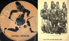 Scythian (Turk) Warrior and Turkish Zeybek (Warriors)  ZEYBEK - EFE