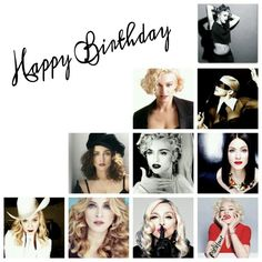 06b595b176b Happy Birthday Madonna Collage