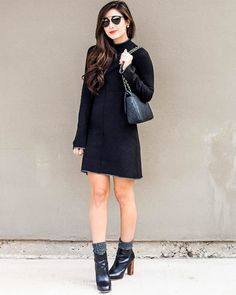 With Gray Socks and Black Booties