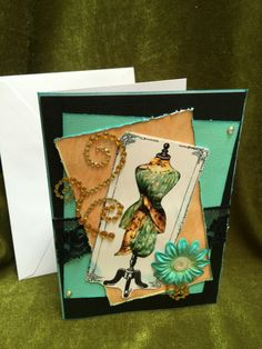 A personal favorite from my Etsy shop https://www.etsy.com/listing/399378799/card-handmade-greeting-fashion-style