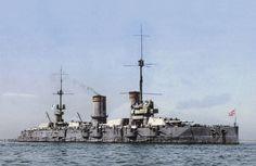 Colorised: Imperial Russian Battleship 'Gangut', 1915 [1234x803]