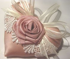 Lavender Heart Sachet with Rose & Lace by RebeccasHearts on Etsy, $13.50