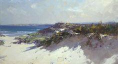 Résultat d'images pour Ken Knight Australian Painting, Australian Artists, Landscape Artwork, Abstract Landscape, Dune Art, Knight Art, Seascape Paintings, Beach Scenes, Beach Art