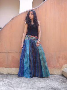 Wide Leg Pants ...Skirt Pants . what to make out of a sari