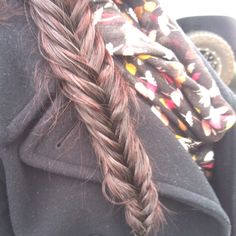 Fishtail braid.. I learned. :)