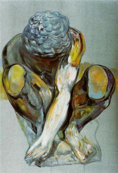 After Michelangelos Squatting Child - Salvador Dali 1982