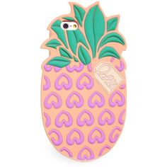 Lolli Pineapple iPhone 6/6S Case (5.21 AUD) ❤ liked on Polyvore featuring accessories, tech accessories, phone, phone case and yellow
