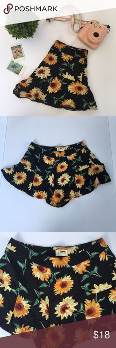 sunflower flowy shorts sunflower flowy shorts. tag says size 8 but best fits a S/M. they zip up on the side.  in great condition, NOT american apparel but a similar style, from a boutique. 🌸 I am professional ballerina making some extra income. I am open to offers/negotiations on prices, just keep in mind poshmark does take 20%. I am not responsible for wrong fit/not reading the descriptions. ask questions if you aren't sure, i respond right away. thank you for shopping! 🌸 American Apparel…
