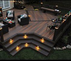 Patios and decks for small backyards patio deck designs wood design backyard plans free ideas . patios and decks for small backyards Deck Design Plans, Backyard Patio Designs, Deck Plans, Backyard Decks, Back Deck Designs, Desert Backyard, Cool Deck, Diy Deck, Ideas Terraza