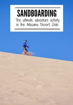 Traveling to the Atacama Desert of Chile is an adventure lover's paradise. One of our favorite activities on sandboarding the Death Valley! | www.eatworktravel.com The luxury, adventure couple!