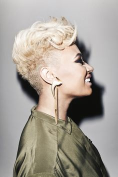 """UK Artist Emeli Sande wears a SENA Riot Shirtdress from a shoot for Nylon styled by Rose Garcia shot by Aaron Richter. Check out Emeli's single """"Next To Me""""."""