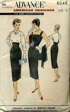 Pattern designed by the Hollywood's Edith Head Notice it was only 50 cents.
