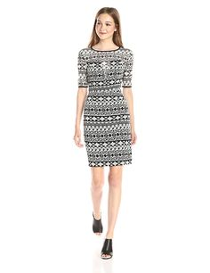 Black Halo Women's Weston Tribal Print Sheath Dress ** Quickly view this special  product, click the image : Women's dresses