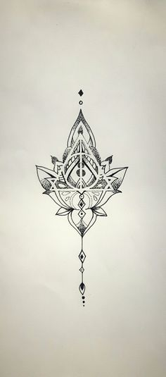 Mandala Deathly Hallows, tattoo idea #necktattoosdesigns #TattooIdeasDibujos