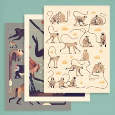 Image of Mad About Monkeys Prints