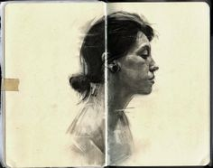 360 Amazing: Graphite on Moleskine Sketchbook by Thomas Cian